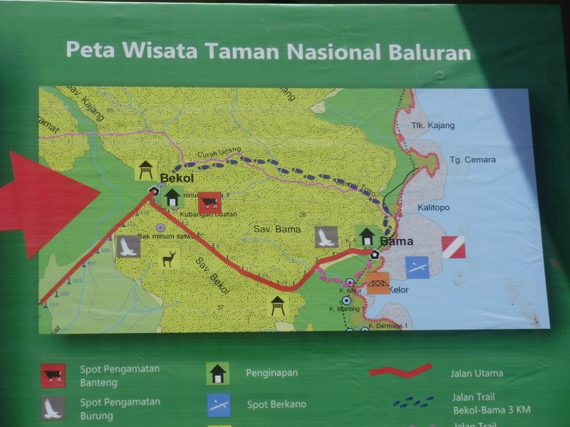 Map of Baluran National Park