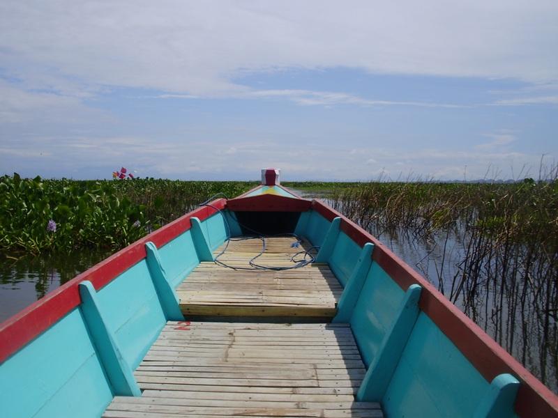 Floating village on Lake Tempe