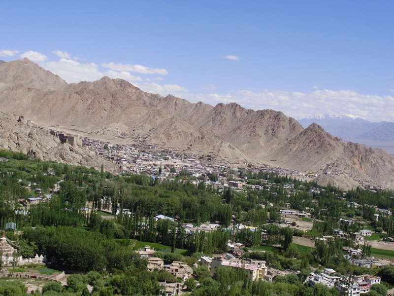 Leh Valley from Shanti Stupa