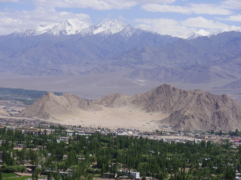 Leh Valley from Shanti Stupa