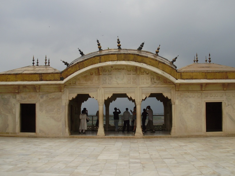 Teracce of red fort