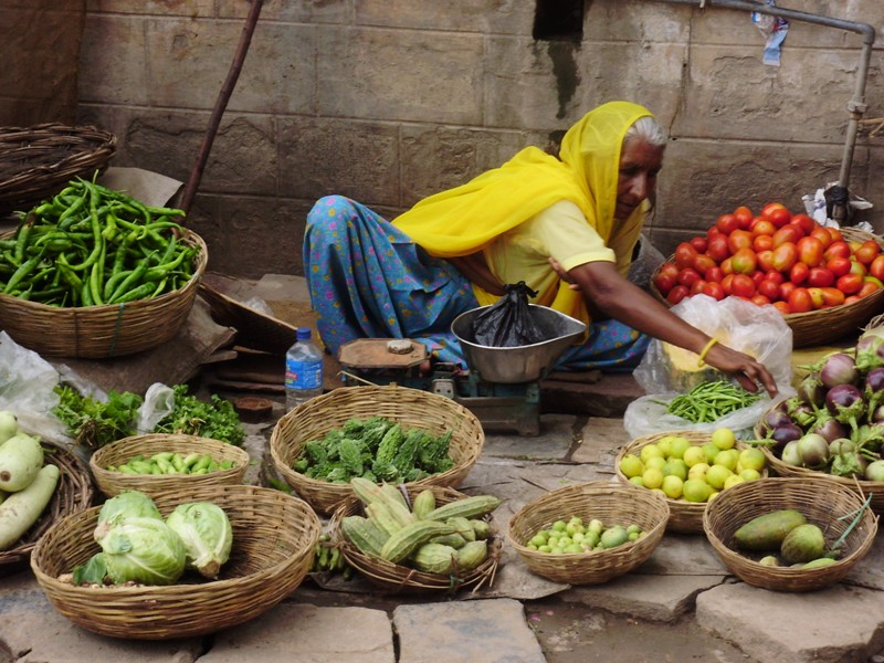 Vegetable market, Pushkar