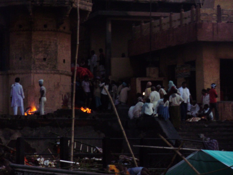 Manikarnika - burning ghat in Varanasi