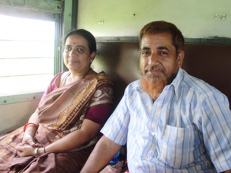friendly people in train in india