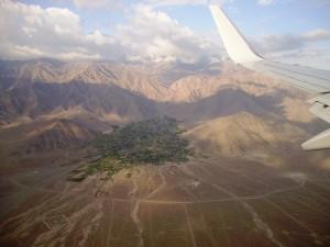 landing in Leh