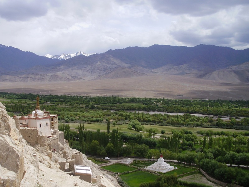 view from Shey monastery