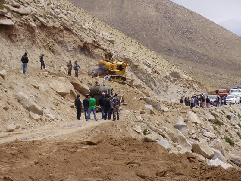 landslide in Ladakh
