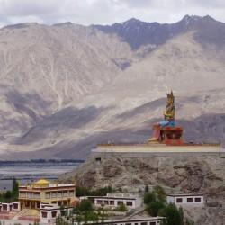 Diskit monastery, Maitreya Buddha and Khardung La Pass