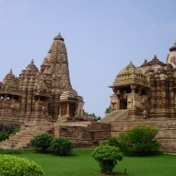 Khajuraho temples with erotic kamasutra carvings