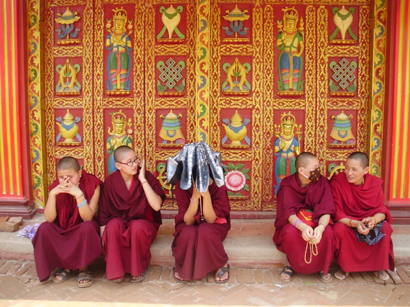 monks in nepal