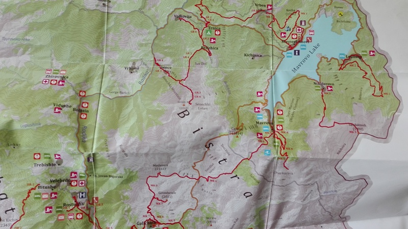 Map of Mavrovo national park