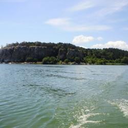 Visiting Snake Island, Golem grad in Prespa Lake, Macedonia