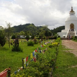 Hiking to Pokhara world peace pagoda in Nepal