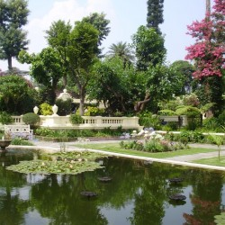 The Garden of Dreams in the middle of chaos in Kathmandu