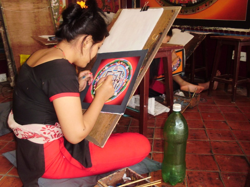 Thanka painting school